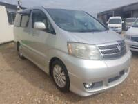 TOYOTA ALPHARD CAMPERVAN WITH SIDE CONVERSION AND ROCK & ROLL BED