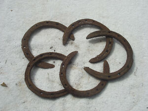 Medium Vintage Hand Forged Horse Shoes