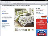 New 12 piece bedding set from sears