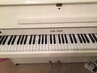 White Zender Piano