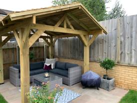 Stunning Wooden Gazebo kit - perfect hot tub shelter - Garden Bar