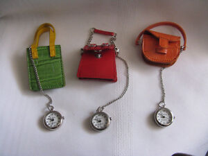 3 miniature purse watches