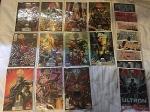 Comic Books - Age of Ultron full run and tie ins