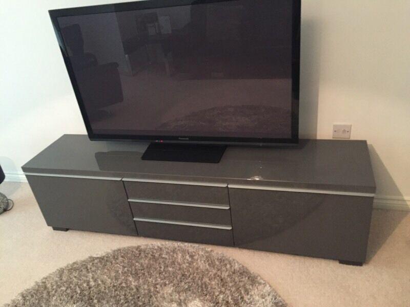Ikea High Gloss Grey Tv Stand In Boldon Colliery Tyne