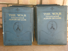 The War illustrated Album-de-luxe Volumes 1 - 10