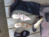 Assorted bags clutches and shoes
