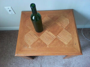 Beautiful wooden bedside table or small coffee table