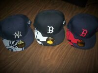 LOT 3 MLB NEW ERA 7 1/2 BOSTON RED SOX + NEW YORK YANKEES