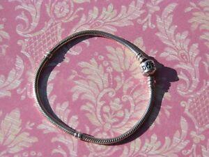 Authentic Pandora Silver Barrel Clasp Bracelet 8.3 inches