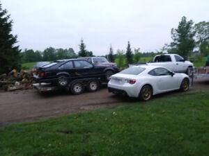 Full deck car hauler