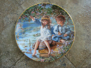 Collector Plates – Cute Kids in the Hearts and Flowers Series