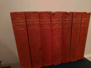 Old old books set of 7