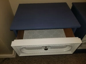 2 refinished nightstands