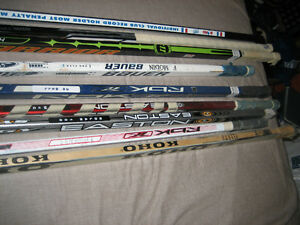 Leafs Game Used Hockey Sticks + Beliveau Lafleur Signed Puck