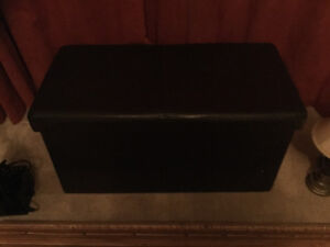 Faux leather storage chest
