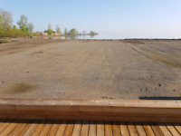 Beach and yard cleaning - Belle River Marina house