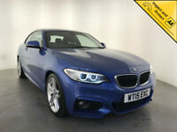 2015 BMW 220D M SPORT AUTOMATIC COUPE 1 OWNER SERVICE HISTORY LEATHER INTERIOR