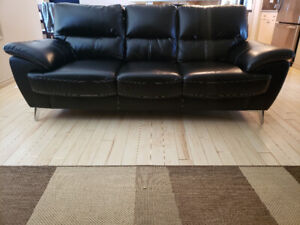 Black leather couch good condition $500 obo