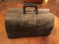 Antique Hide suitcase very thick