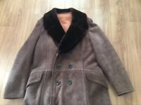 Men's sheepskin and suede warm winter coat. Cost £500