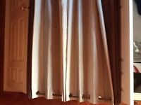 Curtain panels and rods for 2 windows