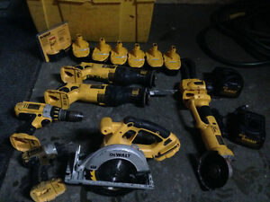 Dewalt 18v XRP Tools and batteries London Ontario image 1