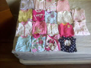 0-3 and 3 month baby girl clothes London Ontario image 1