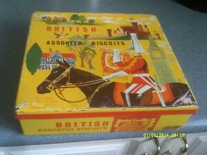 Britsh assorted Biscuits tin container