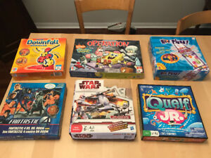 Board games (Operations, Chute's n Ladders, KerPlunk, StarWars)