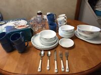 Blue Berry Hearts corelle dishes