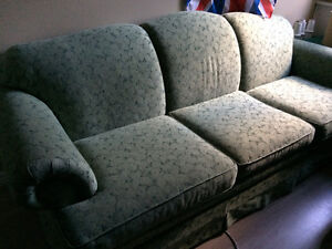 Matching Couch, Love-seat & Chair (Green) - 3 Pieces