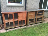 2x two storey Rabbit hutches in great condition