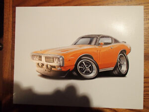 "1973 / 74 DODGE CHARGER ORANGE WALL ART PICTURE 11"" x 8.5"""