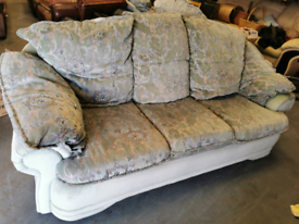 Vintage shabby chic Green floral 3 1 1 sofa