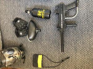 BT-4 combat paintball gun+accessories