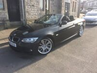 2013 BMW 3 Series M sport hard top convertible £14,400.