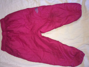 THE NORTH FACE REVERSIBLE WINTER PANTS  LIKE NEW 18-24 months