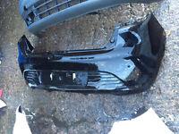 2014 Renault Clio rear bumper in black can post