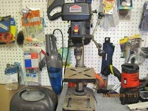 Benchtop Drill Press and a set of Forstener Bits.