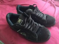 Brown quicksilver skate shoes UK size 11