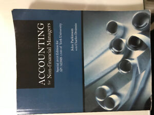 ADMS 1500 Accounting for Non-Financial Managers Textbook