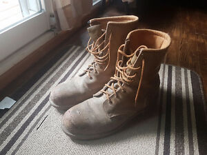 Work Steel Toe Green patch csa boots
