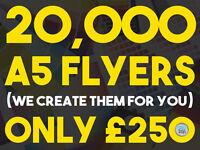 Leaflet & Flyer Printing | 20,000 x A5 Leaflets / Flyers - Designed, Printed & Delivered - ONLY £250
