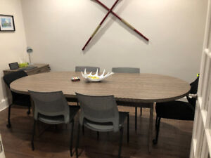 "Like New 6 Seat Conference Table - 94.5"" x 43.5"""
