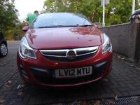Vauxhall Corsa 1.2i 16v ( 85ps ) ( a/c ) 2012/12 Exclusiv 3 door one owner