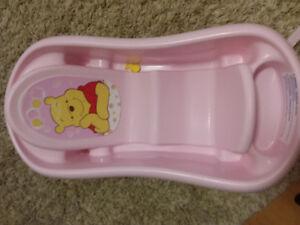 Pink baby bath tub