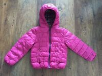 Lovely pink Next girls coat age 5 never worn
