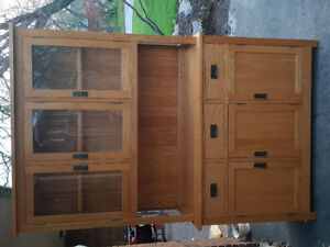 Mennonite made dining hutch