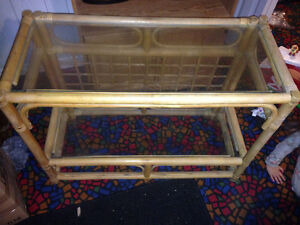 Bamboo Coffee table and matching rectangle shelf. London Ontario image 2