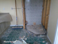 FLOORING  ** CERAMIC REMOVAL  ** SUB-FLOOR DEMO **